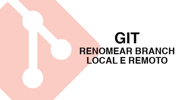 Git: Como renomear branch local e remoto